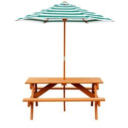 Gorilla Playsets Kids Picnic Table and Umbrella