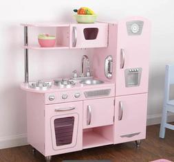 KidKraft Pink Vintage Kitchen Play Set Wood Pretend Food Ref