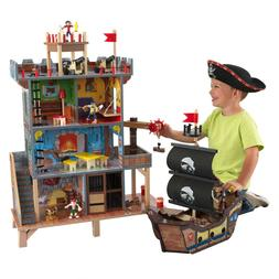 Pirate's Cove Play Set with Lights, Sounds & 17-Piece Access