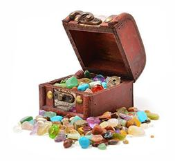 Pirates' Treasure Chest - Crammed with Gemstones, Pearls and