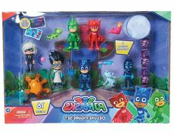 NEW Just Play PJ Masks Deluxe Figure 16pcs Set- Brown Mailer