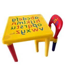 Plastic Play Activity Table and Chair Set Children's kids In