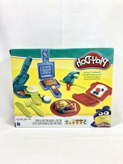 Play Doh Breakfast Time Toy Set Children Learn Pretend Cook