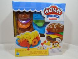 PLAY-DOH KITCHEN CREATIONS BURGER 'N FRIES SET. NEW