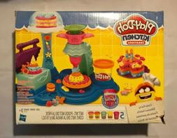 play doh kitchen creations cake party set