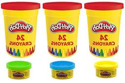 play doh set 24 crayons