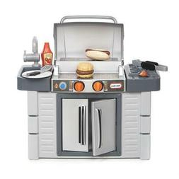 Play Set BBq Grill Pretend Kitchen Outdoor Food Cooking Syst