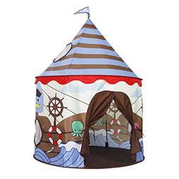 Homfu Play Tent for Kids Castle Playhouse for Children Boys