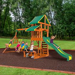Playground Equipment Kids Jungle Gym Toddler Slide Swing Set