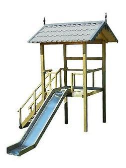 playhouse slide plans diy children outdoor playset