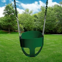 Gorilla Playsets Full Bucket Toddler Swing - Green with Gree