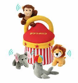 Plush Talking Animals Circus Play Set– 5pc Set Plus Handy