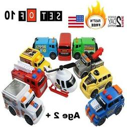 Police Fire Truck Car Set toy for Toddlers boys age 2 3 4 5