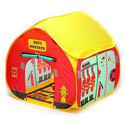 Fun2Give Pop-It-Up Firestation Tent with Streetmap Playmat P