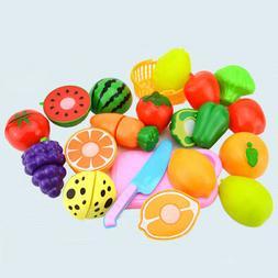 Popular Food Play Set Cut Fruit Vegetable Kids Toddler Toy P