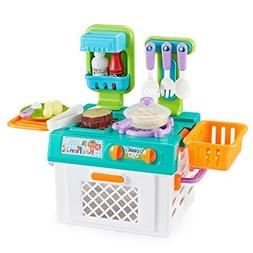 Think Gizmos Portable Pretend Play Cooking Sets for Kids wit