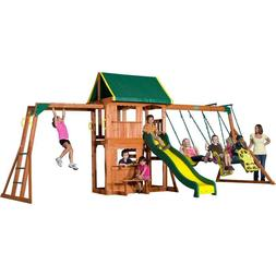 Backyard Discovery Prairie Ridge All Cedar Wood Playset Swin