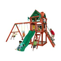 Gorilla Playsets Premium Cedar Wood Swing Set Five Star II O
