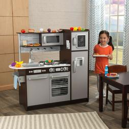 Pretend Kitchen Play Set 30 Piece Oven Refrigerator Kids Toy