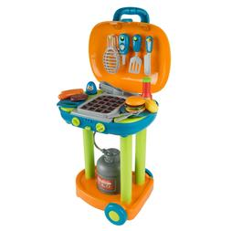 Pretend Play BBQ Grill Kids Dinner Playset with Sounds Light