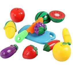 Pretend Play Food Set for Kids 11 Pcs Fruit Food Toddlers Pl