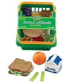4 Pack LEARNING RESOURCES PRETEND & PLAY HEALTHY LUNCH SET