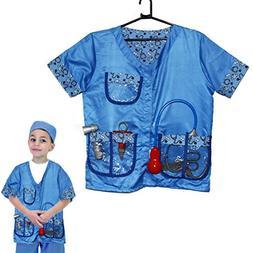 Pretend Play Kids Veterinarian Costume Dress-Up Set - Physic