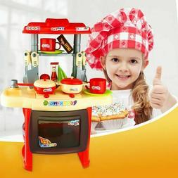 Pretend Toy Kitchen Playset Kids Play Set Children Cooking T
