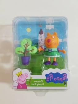 Peppa Pig Princess Candy Cat w/Tree Figurine Toy Mini Play S