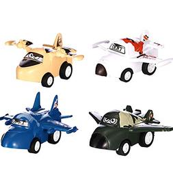 DREAMT Pull Back Airplanes Vehicle Playset, Good for Kids To