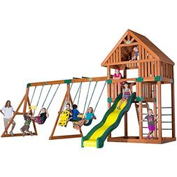Backyard Discovery Quest All Cedar Wood Playset Swing Set