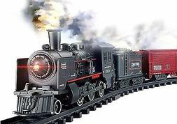 Haktoys Railway King Classical Freight Train Play Set with S