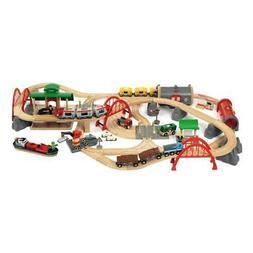 Brio Roads&Rails Train Set Deluxe 87-Part Rail Accessory for