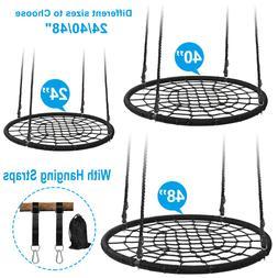 Round DURABLE Tree Web Spider Swing Net Platform Kids Play S