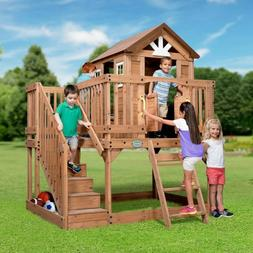 Backyard Discovery Scenic Heights All Cedar Playhouse With L