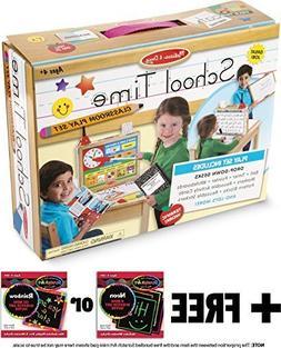 Melissa & Doug School Time Play Set +Free Scratch Art Mini-P