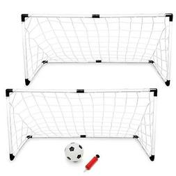 Set of 2 Soccer Goal For Backyard Toddlers Kids Training Pla