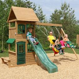 Big Backyard Windale Wooden Cedar Swing Set Playground Outdo