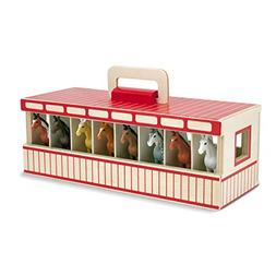 Melissa & Doug Take-Along Show-Horse Stable Play Set With Wo