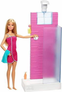 Barbie Shower Playset Working Shower & Bath Accessories GIFT