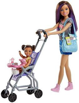 Barbie Skipper Babysitters Inc. Doll and Stroller Playset NE