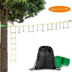 Slackline Bar Kit Outdoor Tree Hanging Obstacles Line Access