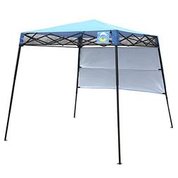 CROWN SHADES 8ft. x 8ft. Slant Leg Instant Canopy with Wall