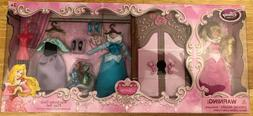 Disney Sleeping Beauty Aurora mini doll wardrobe play set NI