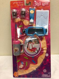 My Life As Snow Tubing Play Set Accessories New 7-piece Set