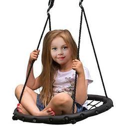 Sorbus Spinner Swing – Kids Indoor/Outdoor Round Web Swing