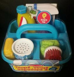 Spray Squirt & Squeegee Play Set - Pretend Play Cleaning Toy