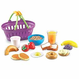 Sprouts Breakfast Foods Basket 16 Pieces Food Toys Play Set