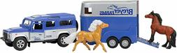 Breyer Stablemates Land Rover and Tag-A-Long Horse Play Set