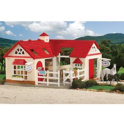 Breyer Stablemates Set Horse Stable Farm Equipment Toys Pret